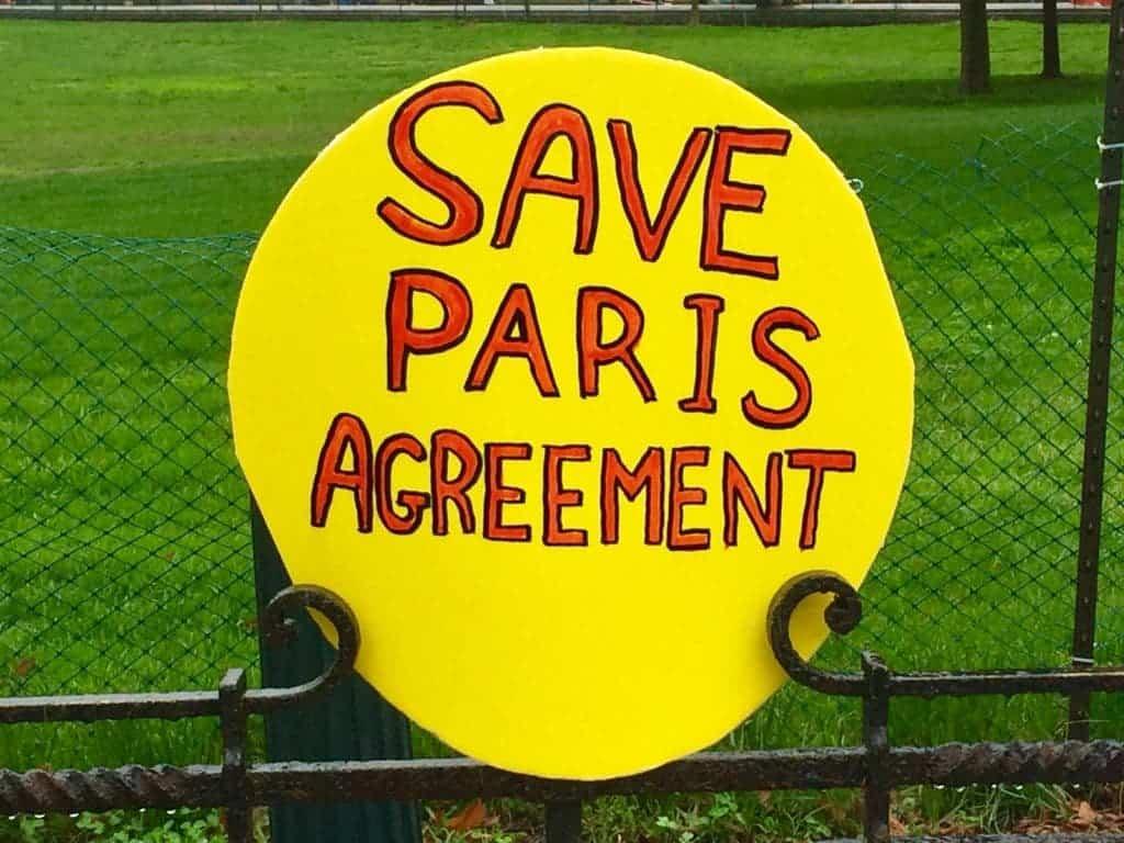 Paris agreement.