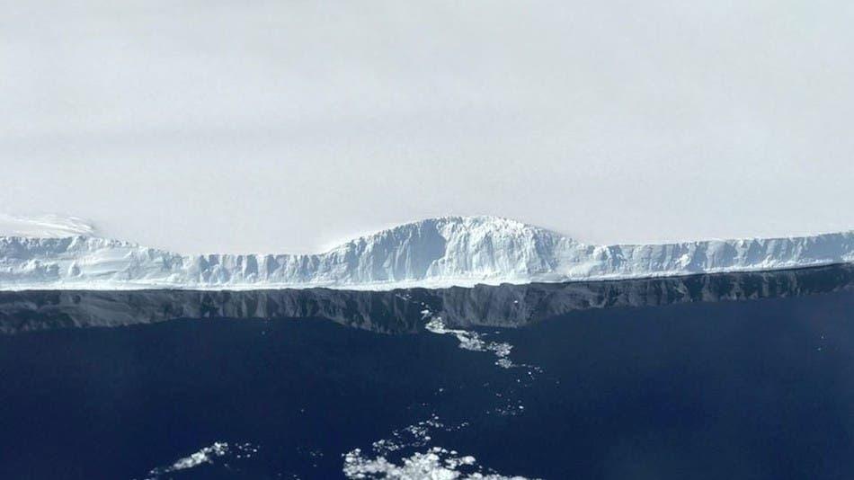 The edge of A-68. Credit: NASA.
