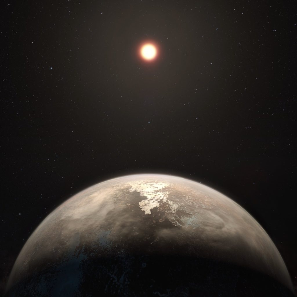 Artist impression of Ross 128 b. Credit: M. Kornmesser/European Southern Observatory.