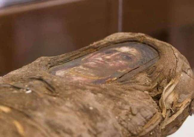 Scientists used Argonne's Advanced Photon Source to peer            inside an ancient Egyptian-Roman mummy without damaging it.            Credit: Northwestern University.