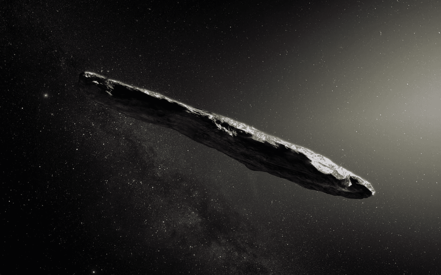 ESO: First Observed Interstellar Asteroid Is Incredibly Long, Has Red Color