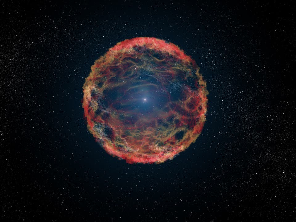 Artist impression of Type11b supernova. Credit: Pixabay.