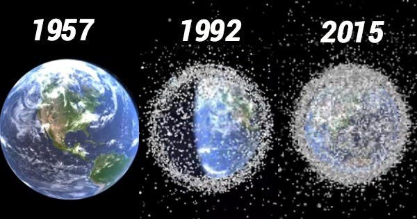Space junk is an ever growing problem. Credit: Quark Mag.