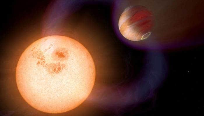 Artist impression of WASP-18b. Credit: NASA.