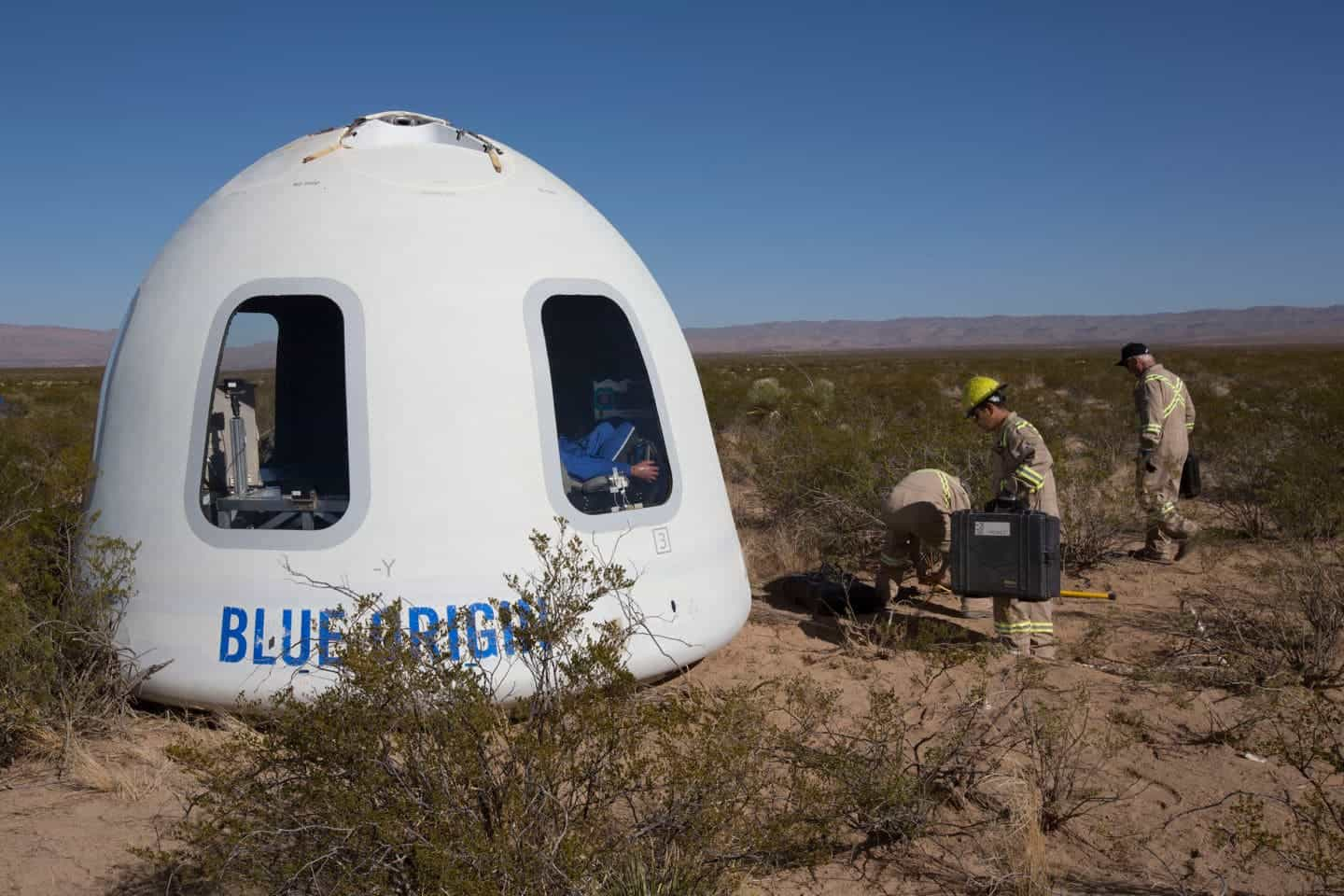 Blue Origin launches, lands Mannequin Skywalker with upgraded spacecraft