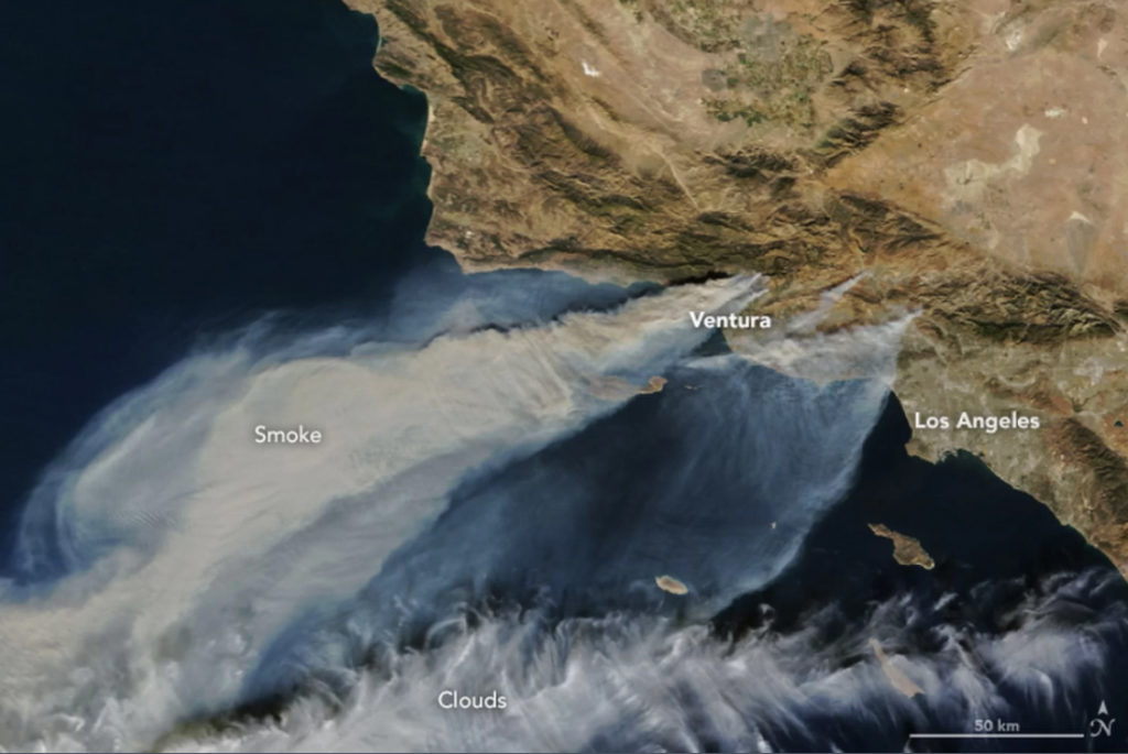 Wildfires Cali NASA.