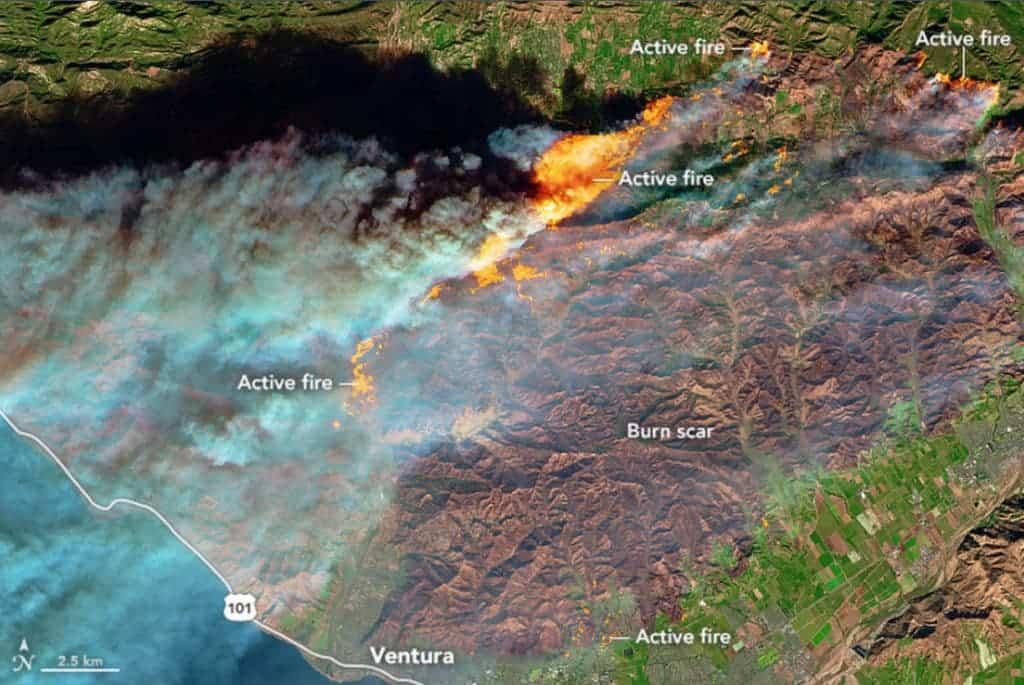 Wildfires Ventura ESA.