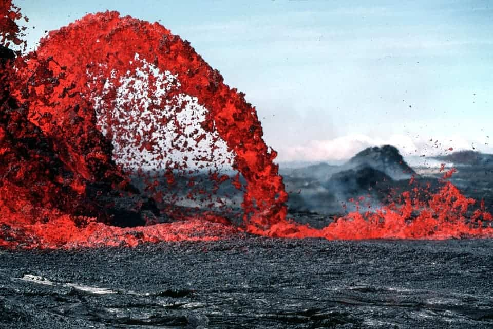 This magma eruption could happen in some parts of New England, but not in the next couple million years. Credit: Pixabay.