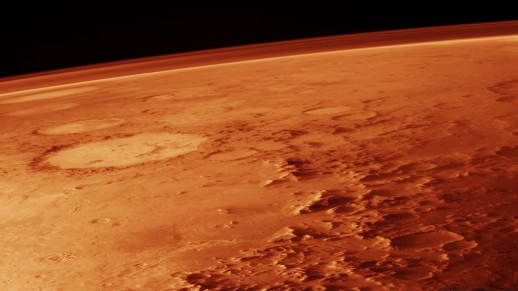 Atmospheric pressure on Mars is just 1% that found on Earth. Credit: YouTube.