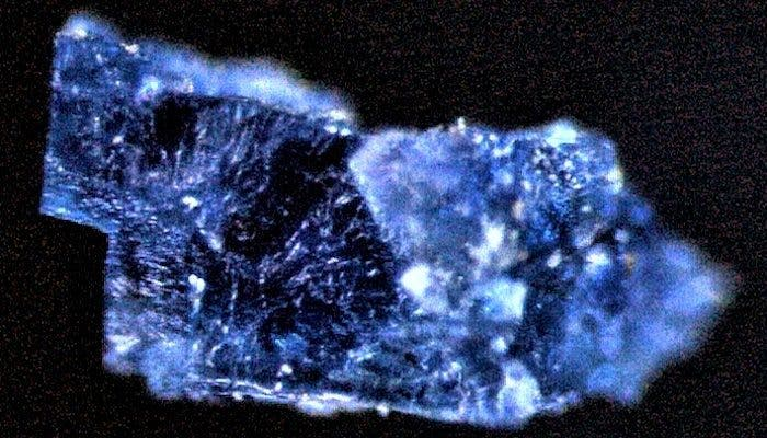 Blue crystal.