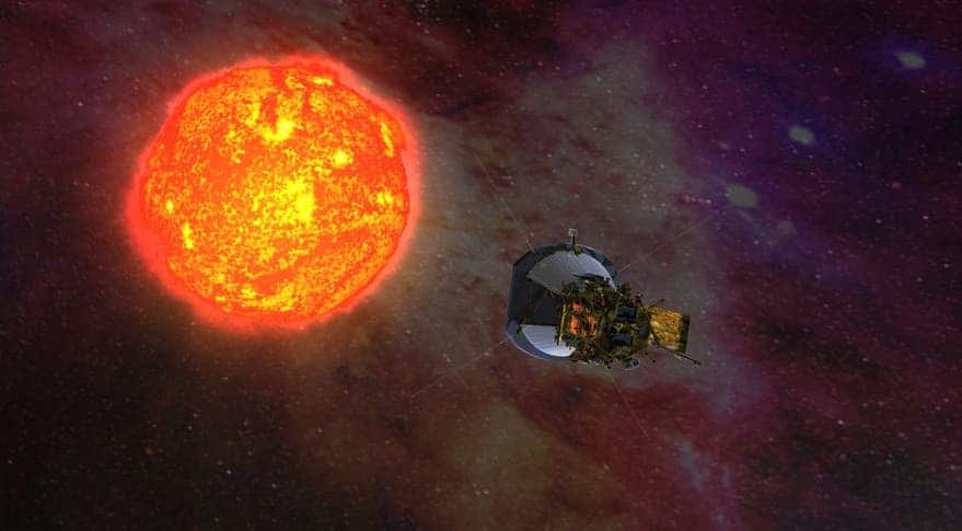 Artist impression of the Parker Solar Probe. Credit: NASA.