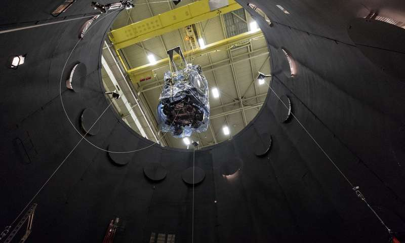The probe will stay seven weeks inside a thermal vacuum chamber. Credit: NASA/JHUAPL/Ed Whitman.