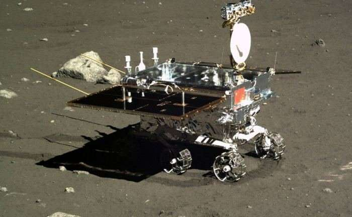 The Chinese lunar rover which is supposed to land on the dark side of the moon by the end of the year. Credit: CASC/China Ministry of Defense