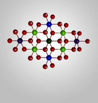 Catalyst model chemical structure.