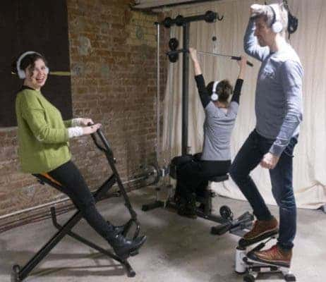 Researchers at Max Planck developed a new fitness technology called Jymmin makes us less sensitive to pain. Credit: Max Planck Institute For Human Cognitive and Brain Sciences.