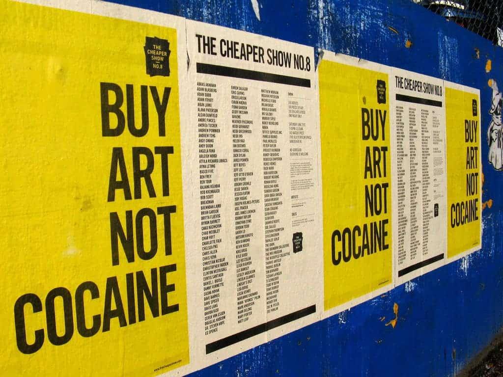 Buy art not cocaine.