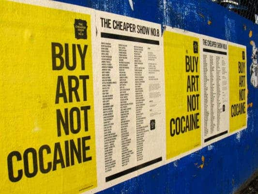 Buy art not cocaine.