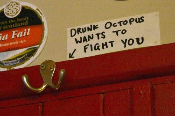 Drunk octopi.