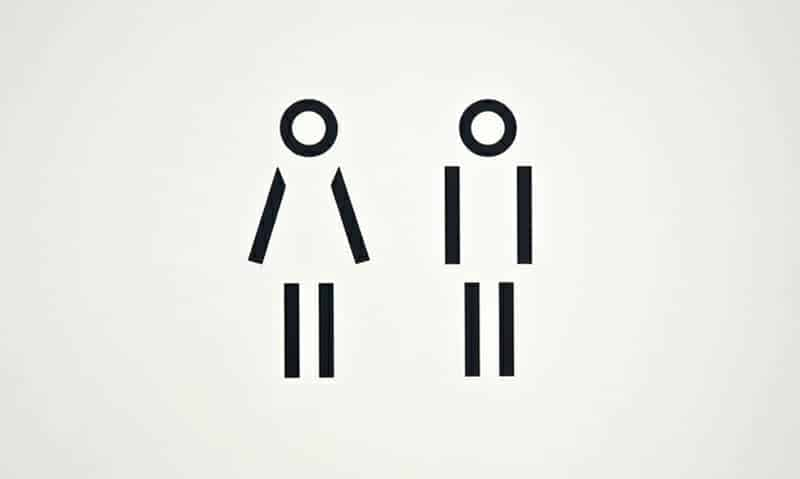 Bathroom sign.