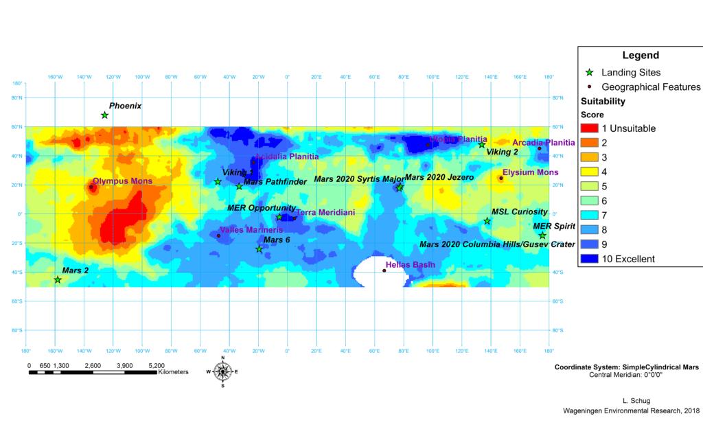 Mars Map.