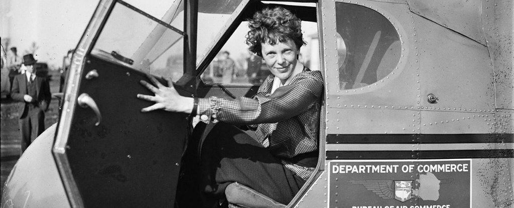 Earhart inside the cockpit of her Lockheed Model 10 Electra. Credit: Wikimedia Commons.