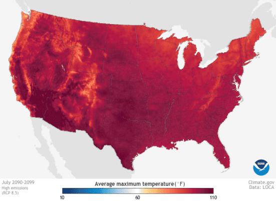 July 2090 high emissions.