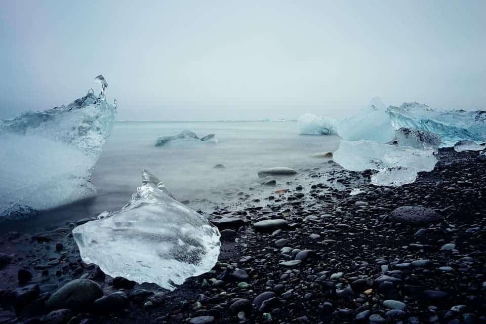 Melting ice.