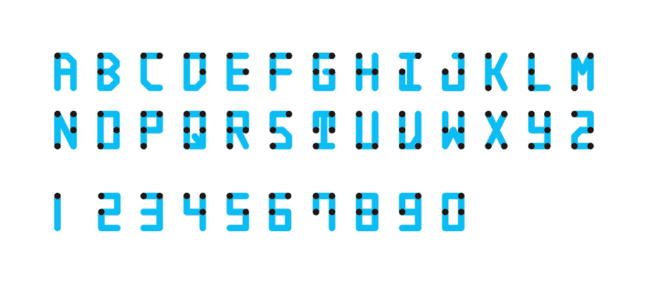 Braille neue standard alphabet.