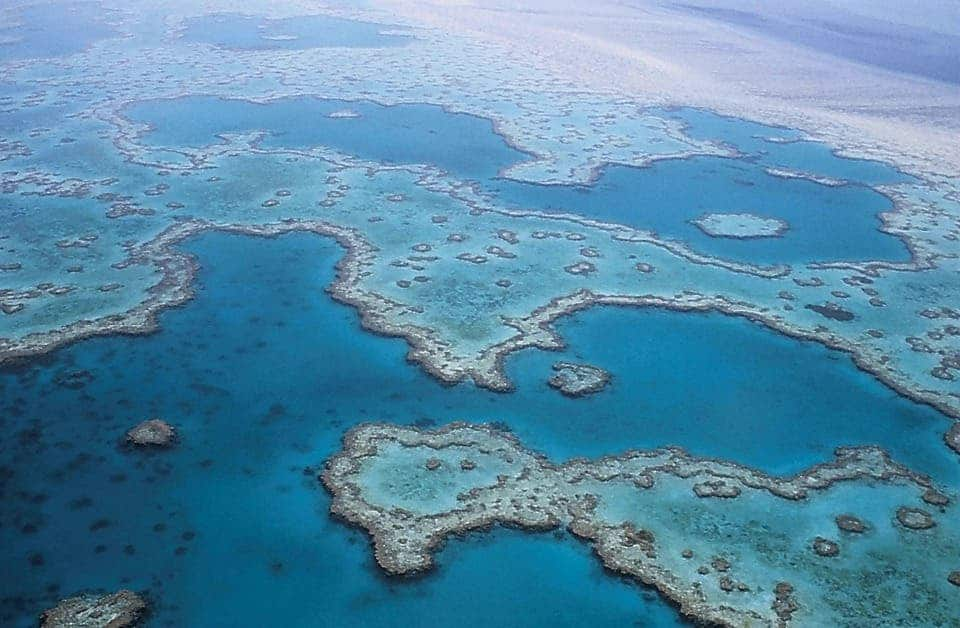 Aerial view of the Great Barrier Reef. Credit: Pixabay.