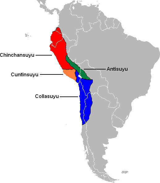 Inca Empire borders during its greatest extent. Credit: Wikimedia Commons.