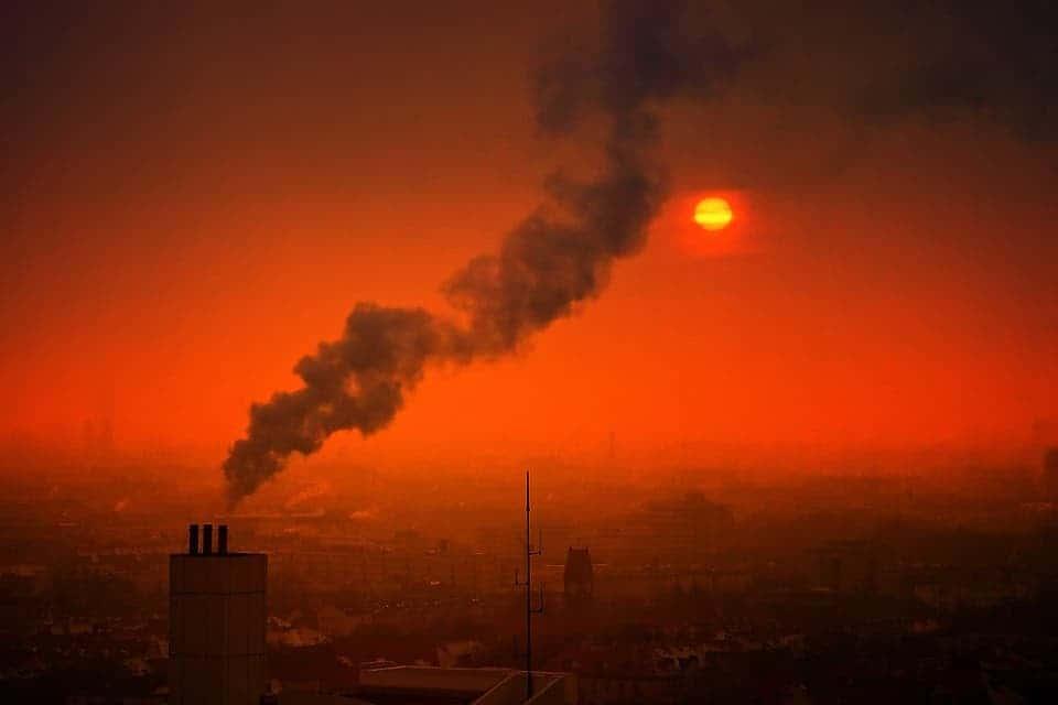 City smoke.
