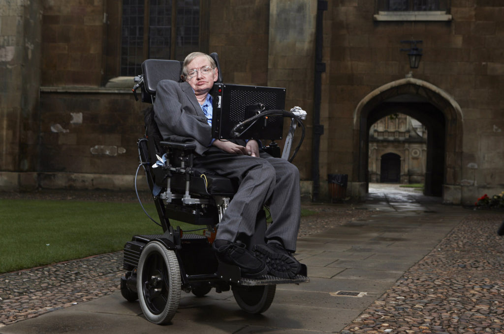 Stephen Hawking at Gonville & Caius College, Cambridge. Credit: Lwp Kommunikáció / Flickr.