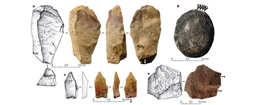 Stone artificats retrieved from the Kalinga site. Credit: Ingicco et al./Nature.