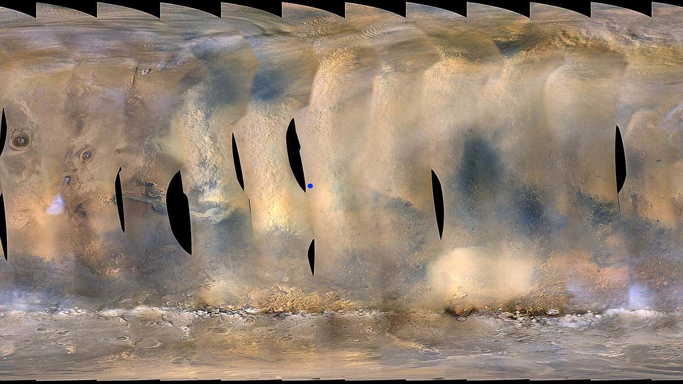 Huge Mars Dust Storm Could Mean Loss of a NASA Rover