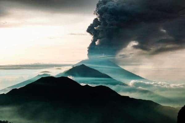 Bali eruption.
