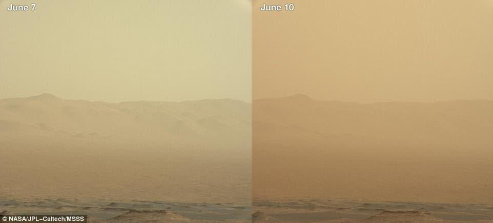 Mars storm.