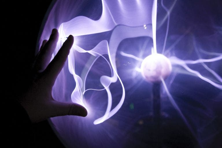 Hand Plasma Lamp.