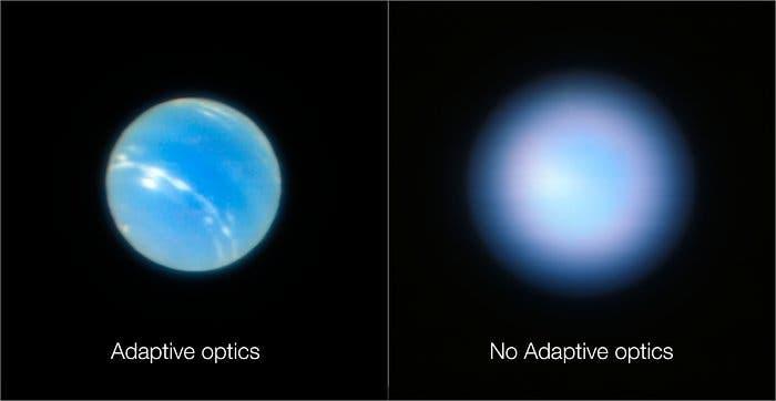 Neptune looks beautifully blue in sharp new telescope image