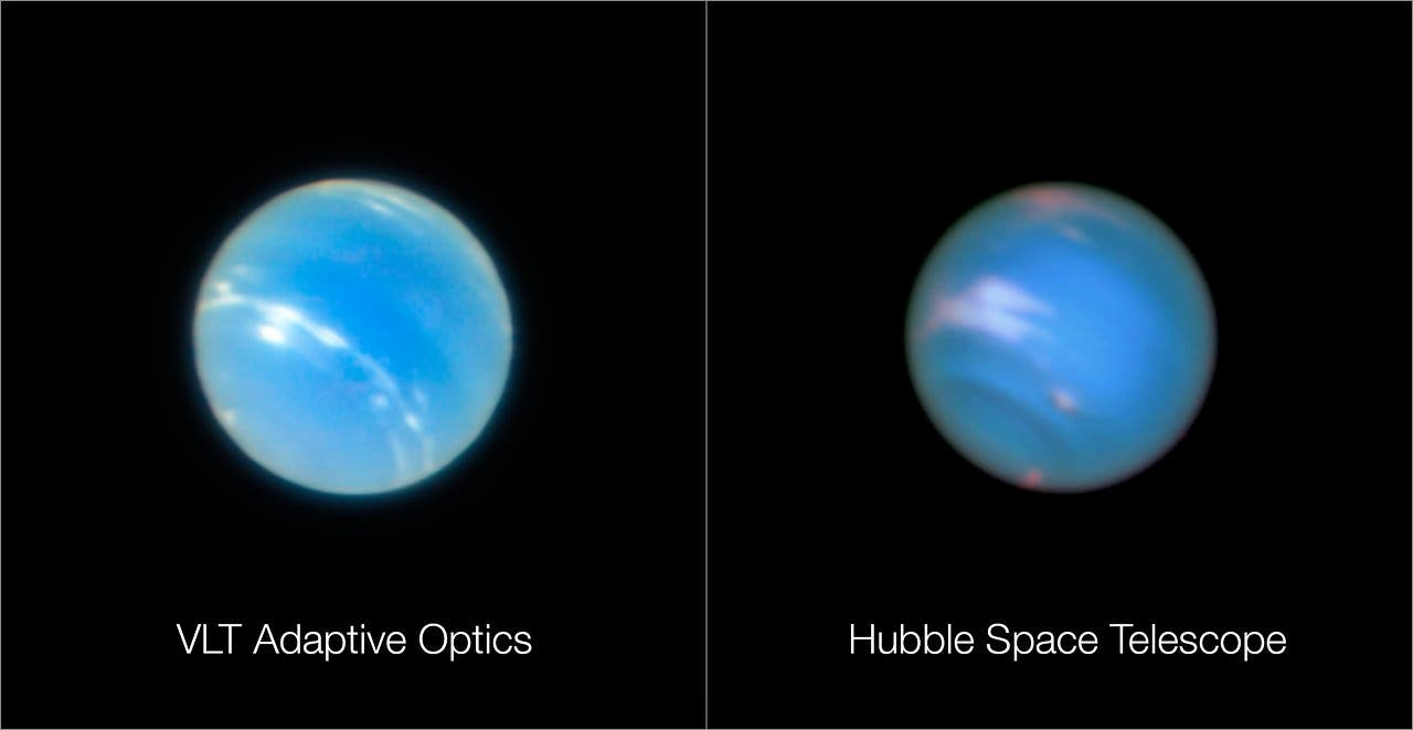 Neptune looks extremely sharp and very blue in these new images