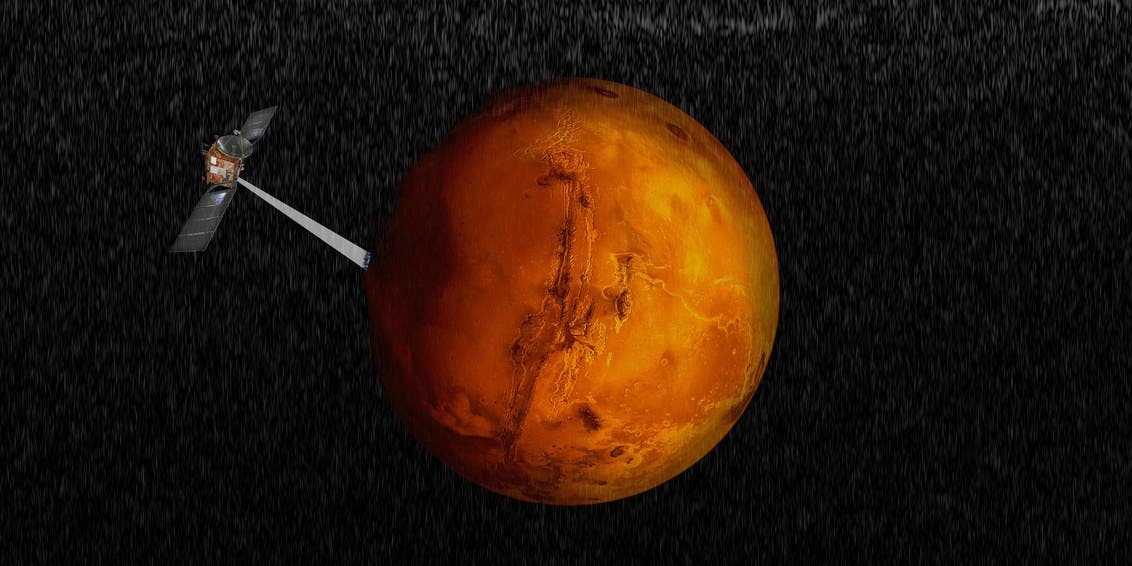 Liquid water on Mars! Lake discovered under Martian ice cap
