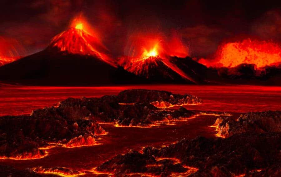 Artist's rendering of the landscape during end-Permian extinction. Credit: José-Luis Olivares/MIT.