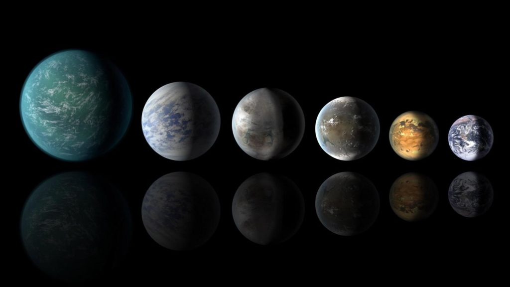 Artist impression of worlds similar to Earth. Credit: NASA.