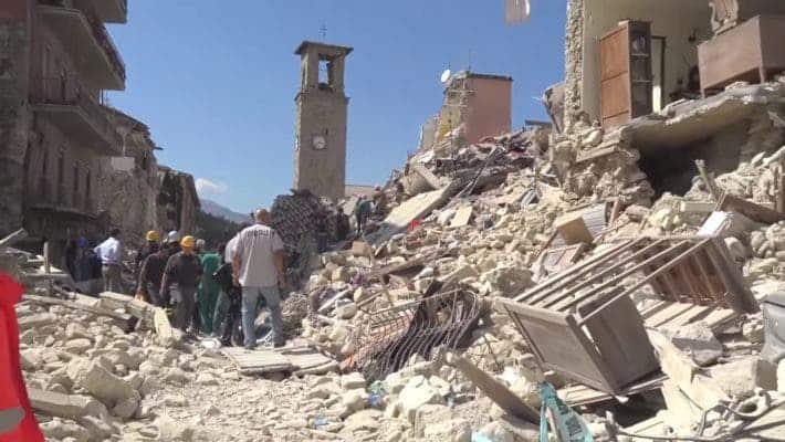 Amatrice, the epicenter of the 2016 Italian earthquake. Credit: Youtube, Wikimedia Commons.