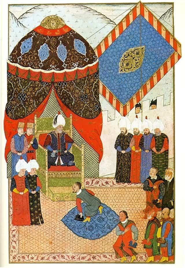 Ottoman homage.