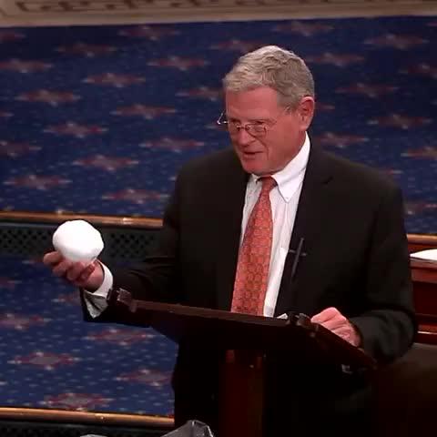 Inhofe holding snowball.