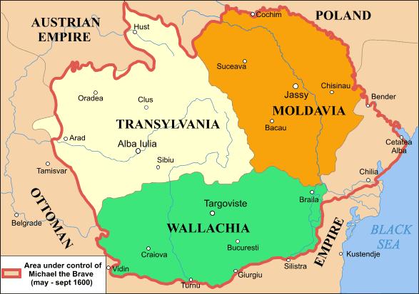 Romania historic regions.