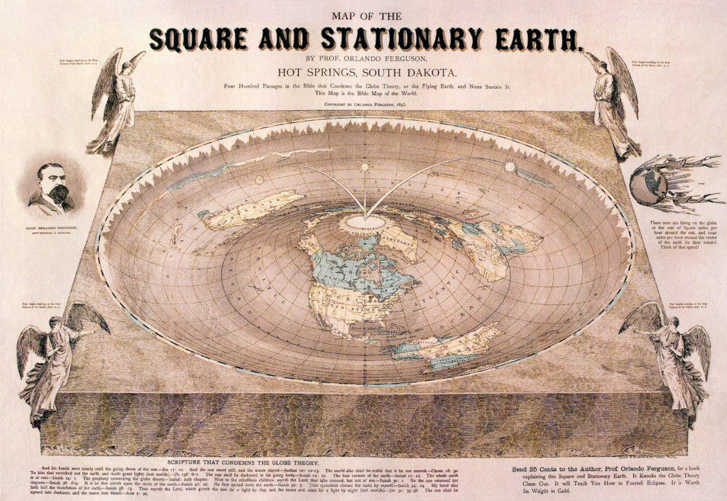 Flat Earth map.