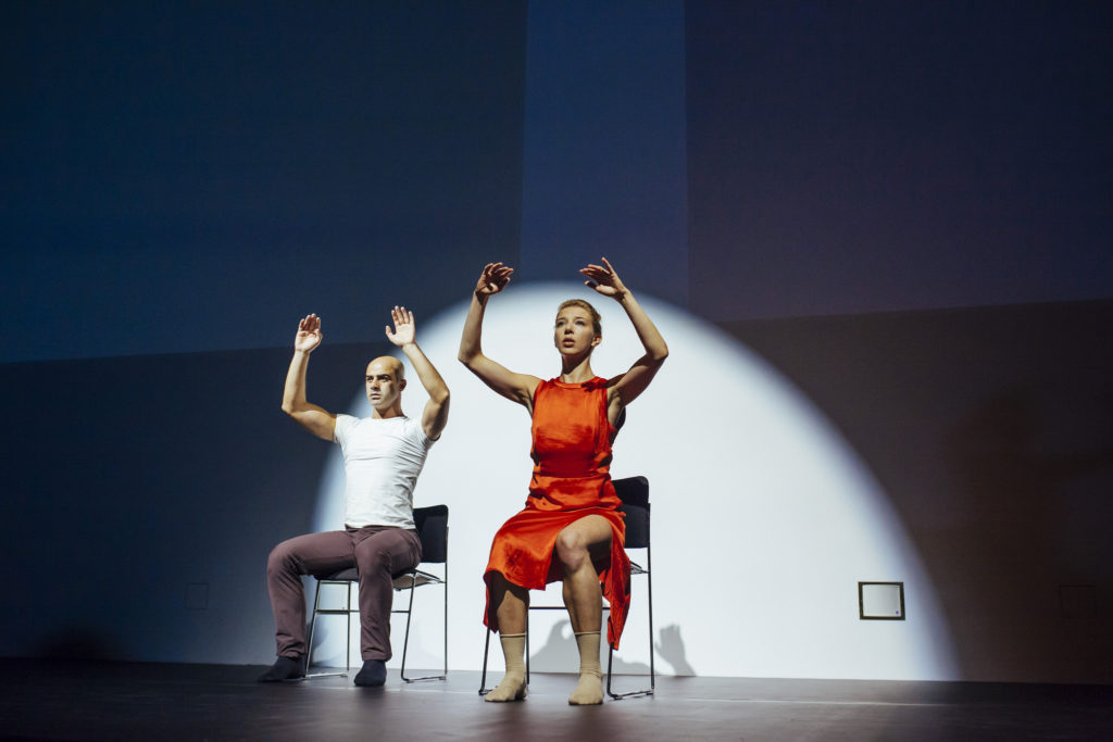 Gloria Benedikt and Mimmo Miccolis performing 'COURAGE' at the European Forum Alpbach Political Symposium 2016. Credit: IIASA, Flickr.