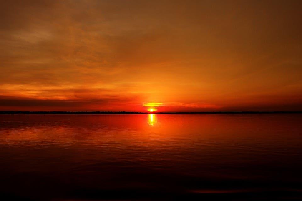 Amazon sunset.