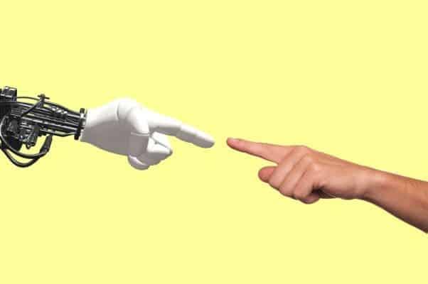 Robot human hand.